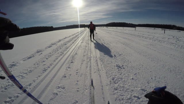 langlauf3 - telemark stock videos and b-roll footage