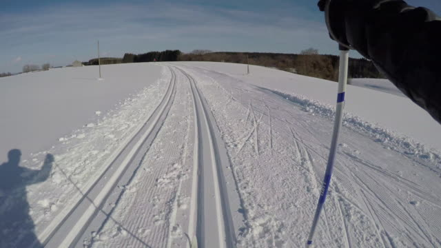 langlauf8 - telemark stock videos and b-roll footage