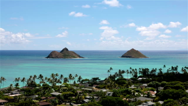 lanikai beach, kailua, oahu, hawaii - oahu stock videos and b-roll footage