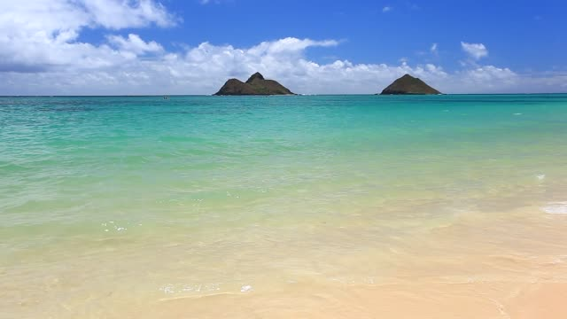 stockvideo's en b-roll-footage met lanikai beach on oahu, hawaii - oahu