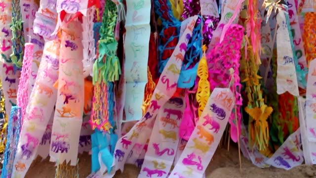 Lanna flag Songkran Festival Chiangmai Thailand