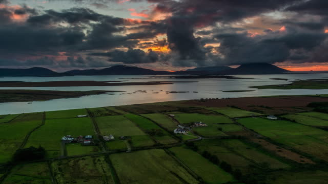 Lanscape in Ireland aerial view