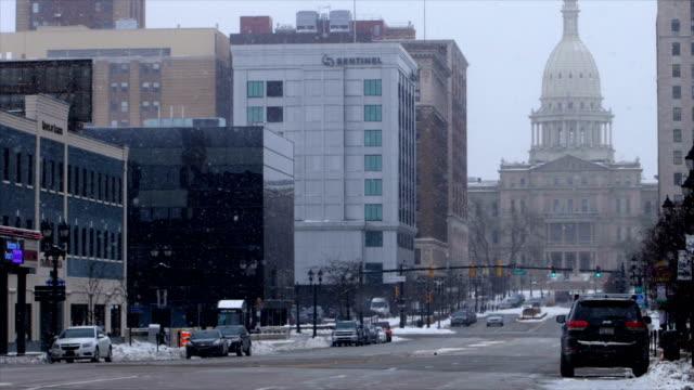 lansing, mi in the winter - lansing stock videos & royalty-free footage