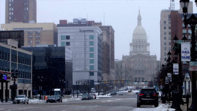 lansing, mi in the winter - lansing stock videos & royalty-free footage