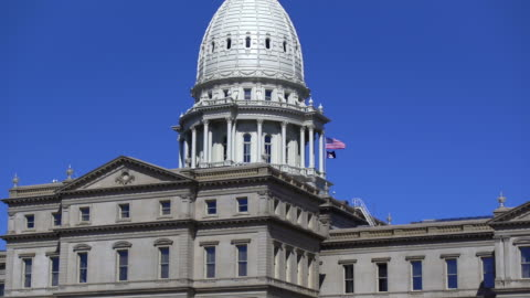 lansing, michigan, state capital building - state capitol building stock videos & royalty-free footage