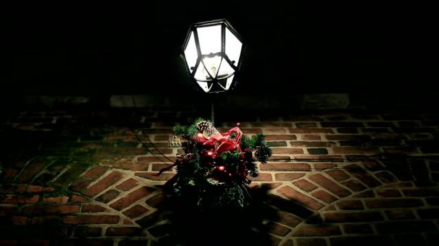 lantern, christmas decorations, street lamps, night - nativity scene stock videos & royalty-free footage