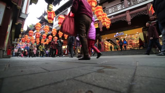 lantern festival in the chinese lunar new year shanghai - chinese lantern festival stock videos and b-roll footage
