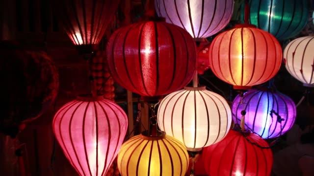 lantern festival - lanterna attrezzatura per illuminazione video stock e b–roll