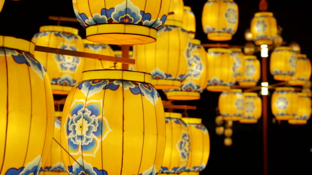 lantern  for celebrate chinese spring festival ,xi'an, shaanxi, china - lantern stock videos & royalty-free footage