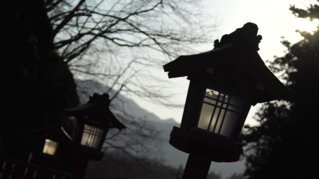 lantern in forest - Japan