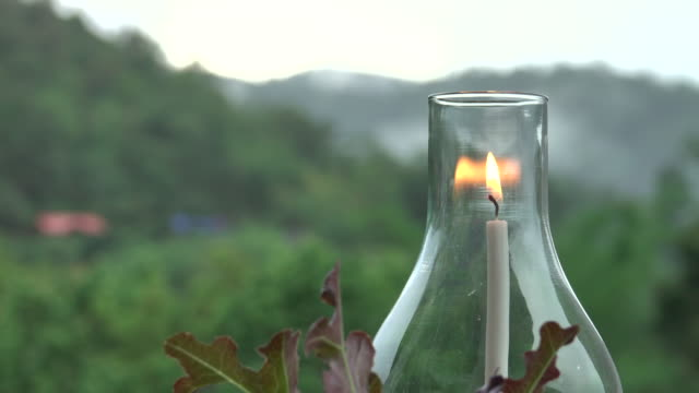 lantern in mountain at twilight sky - lantern stock videos & royalty-free footage