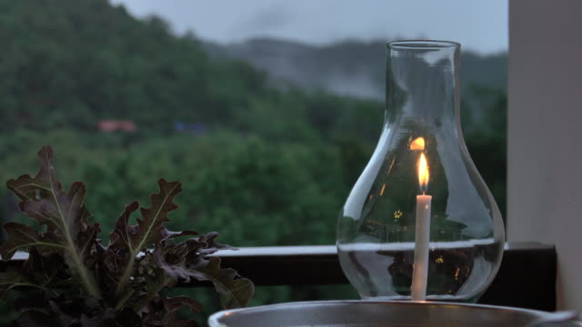lantern in mountain at twilight sky - decoration stock videos & royalty-free footage