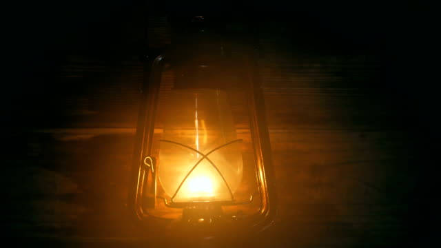 lantern lamp at night - oil lamp stock videos & royalty-free footage