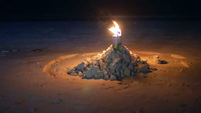 lantern on a beach at night - seascape stock videos & royalty-free footage
