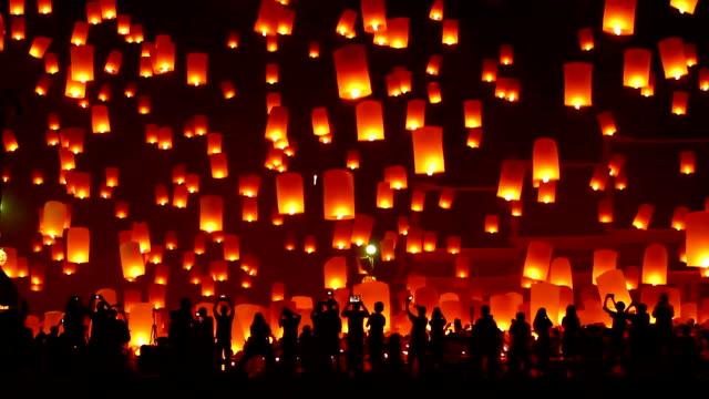 vidéos et rushes de lanterne festival traditionnel - promulguer