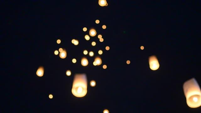 lantern - sky lantern stock videos and b-roll footage