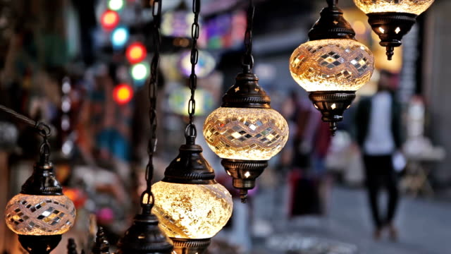 lanterns at grand bazaar - bosphorus stock videos & royalty-free footage