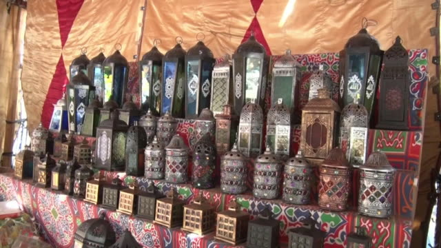 lanterns called fanous at cario's market, egypt - tradition stock videos & royalty-free footage