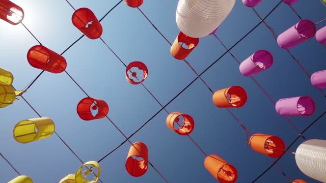 lanterns during the daytime festival - electric lamp stock videos & royalty-free footage