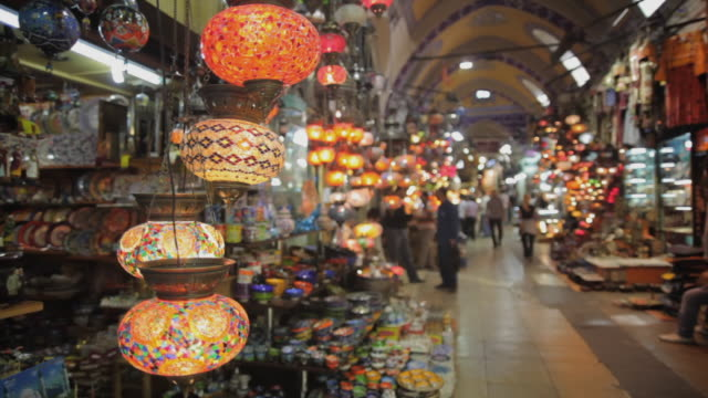 ms lanterns for sale in grand bazaar, istanbul, turkey - istanbul province stock videos & royalty-free footage