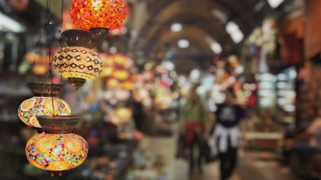 cu lanterns for sale in grand bazaar, istanbul, turkey - istanbul province stock videos & royalty-free footage