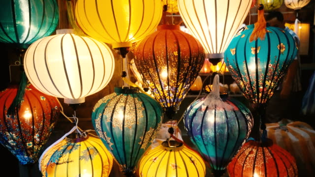 lanterns in hoi an - paper lantern stock videos and b-roll footage
