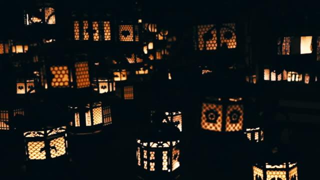 lanterns in the dark - liyao xie stock videos & royalty-free footage