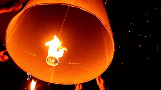 Lanterns, Yee Peng Festival (Yi Peng) Chiang Mai, Thailand. HD