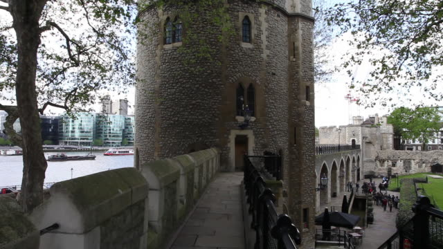 lanthorn  tower and the southern walls, tower of london - tower of london stock videos & royalty-free footage