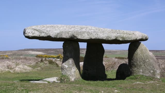 lanyon quoit, an ancient monument near zennor, cornwall, uk. - female animal stock videos & royalty-free footage