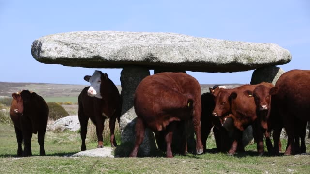 Lanyon Quoit, an ancient monument near Zennor, Cornwall, UK
