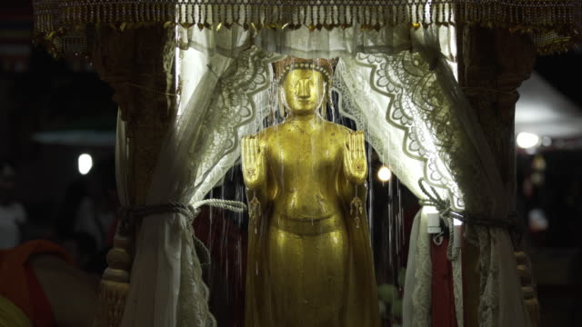Lao Pi Mai Watering of Prabang Statue