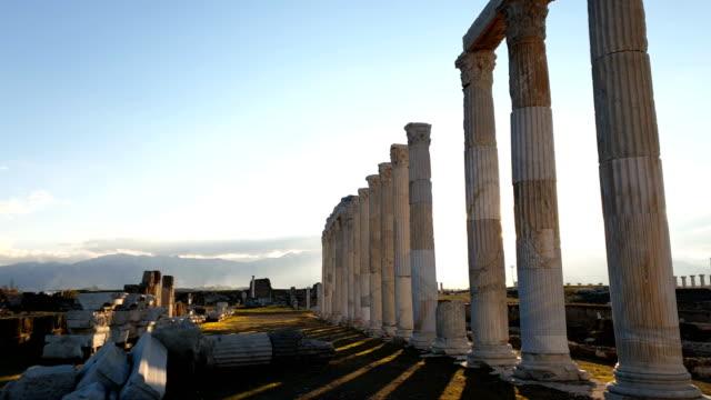 laodizea antiken stadt auf dem lycus in pamukkale region - archäologie stock-videos und b-roll-filmmaterial