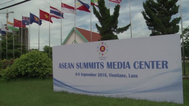 laos prepares to host the association of southeast asian nations summit in vientiane in which barack obama will participate the first visit of a us... - association of southeast asian nations stock videos & royalty-free footage