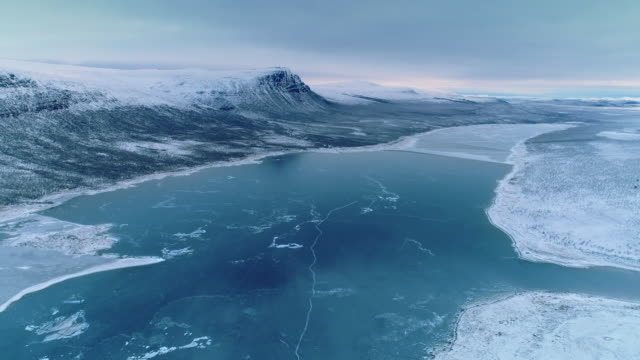 laponia in winter / lappland, sweden - dramatic landscape stock videos & royalty-free footage