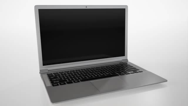 laptop 4k with white background - 3d animation stock videos & royalty-free footage