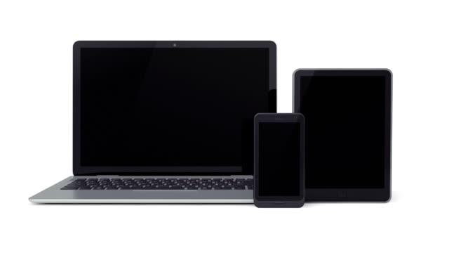 ラップトップ、タブレット、スマートフォン - aluminum点の映像素材/bロール