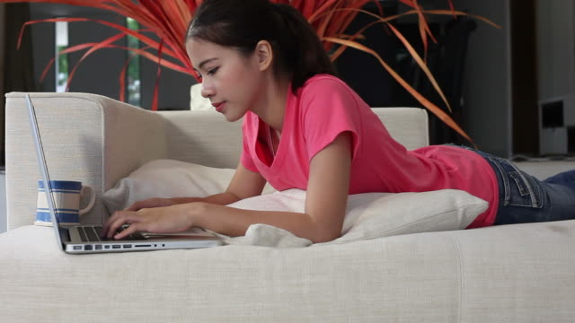 laptop user - one teenage girl only stock videos & royalty-free footage