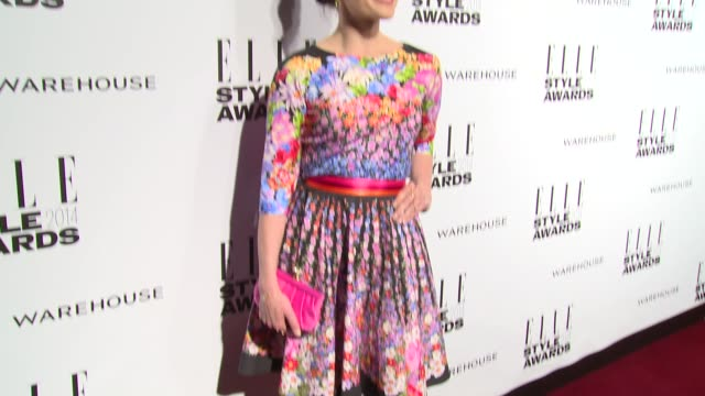 lara pulver at elle style awards arrivals at one embankment on february 18 2014 in london england - embankment stock videos and b-roll footage