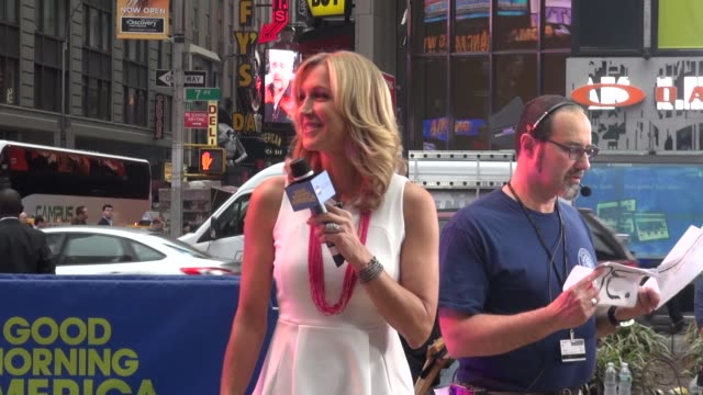 lara spencer at the 'good morning america' studio in new york ny on 5/22/13 - good morning america stock videos and b-roll footage