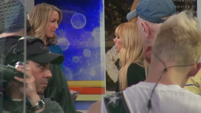 Lara Spencer interviewing Rachel Zoe on the set of the Good Morning America show in Celebrity Sightings in New York