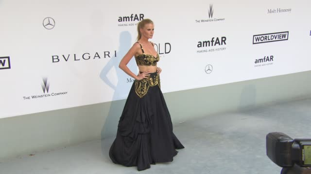Lara Stone at AmfAR Red Carpet at Hotel du CapEdenRoc on May 22 2014 in Cap d'Antibes France