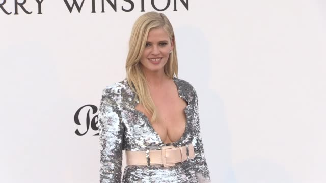 Lara Stone on the red carpet at the amfAR Gala during the Cannes Film Festival 2017 Thursday 25 May 2017 Cannes France