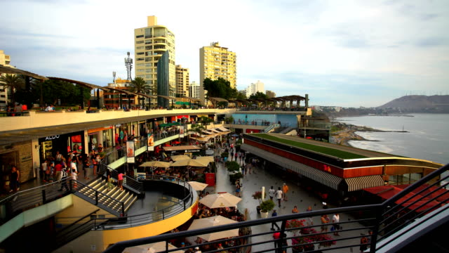 larcomar shopping centre miraflores district travel destination peru - lima peru stock videos and b-roll footage