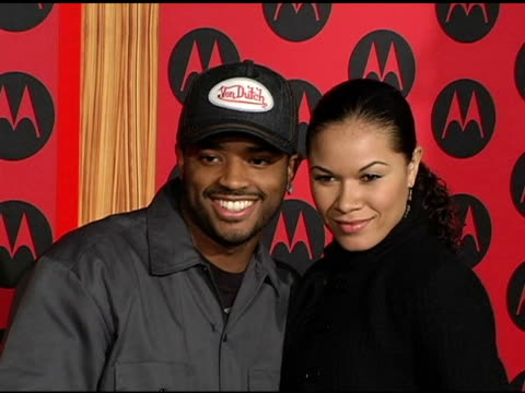 larenz tate and guest at the motorola 6th anniversary holiday party arrivals at the music box theater in hollywood california on december 2 2004 - larenz tate stock videos and b-roll footage