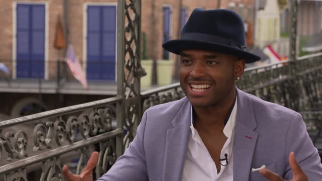 interview larenz tate on being in new orleans his character sisterhood the themes of the film at the girls trip junket on july 06 2017 in new orleans... - larenz tate stock videos and b-roll footage