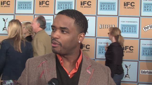 larenz tate on being relaxed before the oscars and on crash being a true indie film at the the 21st annual ifp independent spirit awards in santa... - larenz tate stock videos and b-roll footage