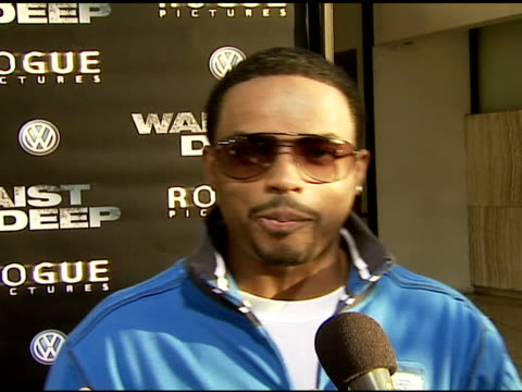 larenz tate on the cast on trying to stay in all the hot movies on this film being action and suspense on the plot on an important fatherson dynamic... - larenz tate stock videos and b-roll footage