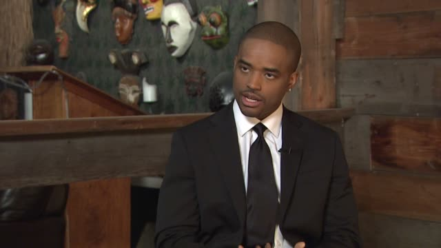 larenz tate on the importance of celebrities raising awareness for special causes at the behind the scenes larenz tate at los angeles ca - larenz tate stock videos and b-roll footage