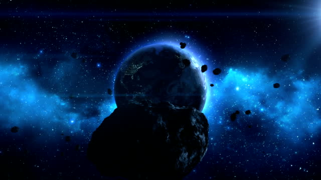 large asteroid heading towards earth - meteor stock videos & royalty-free footage